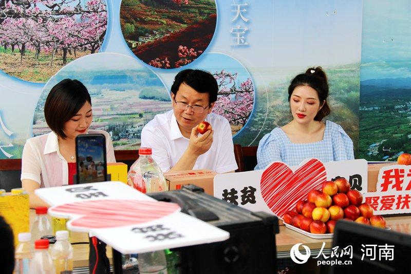 河南内乡县长直播卖农产品